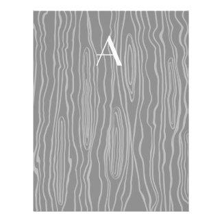 Monogram black faux bois personalized flyer