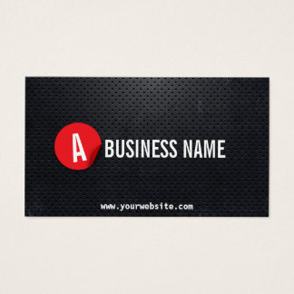Monogram Black Metal Red Label Mechanic Business Card