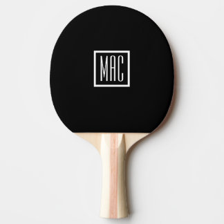 Monogram Black Ping Pong Paddle