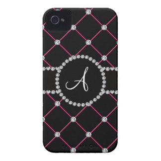 Monogram black tuft diamonds iPhone 4 Case-Mate case