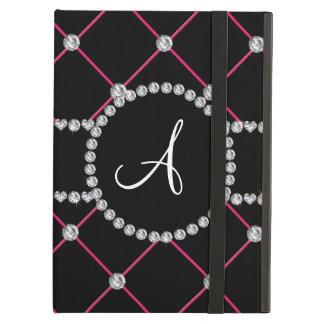 Monogram black tuft diamonds cover for iPad air
