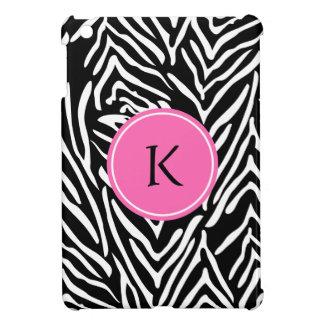 Monogram Black, White and Hot Pink Zebra Print Case For The iPad Mini