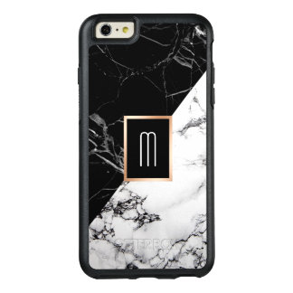Monogram Black White Marble Texture Fashion Look OtterBox iPhone 6/6s Plus Case