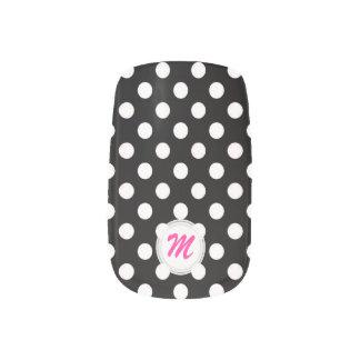 Monogram: Black With White Polkadot Minx Nails Minx ® Nail Wraps