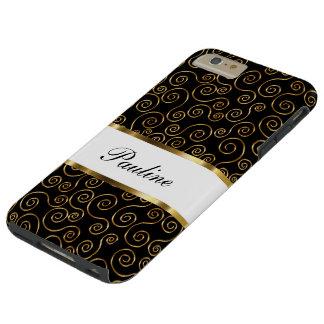 Monogram Bling Style Tough iPhone 6 Plus Case