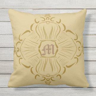 Monogram bliss throw pillow