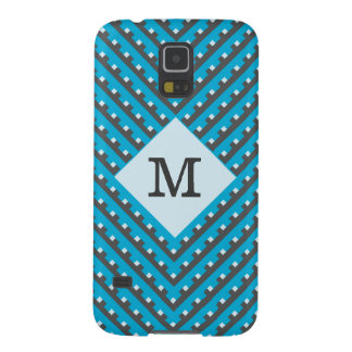 Monogram Blue Intersecting Lines Cases For Galaxy S5
