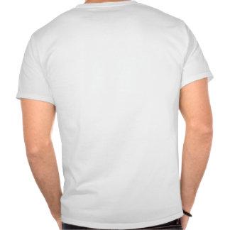 Monogram Blue intersecting lines grid Tshirts