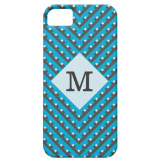 Monogram Blue Intersecting Lines iPhone 5 Cover