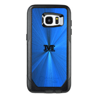 Monogram Blue Metallic Look Otterbox Edge S7 Case