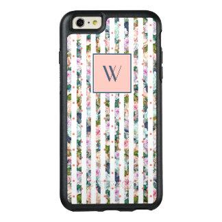 Monogram | Blue & Pink Rose Stripes Polka Dots OtterBox iPhone 6/6s Plus Case
