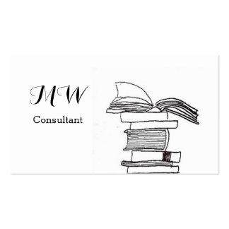 Monogram Booklover Business Card