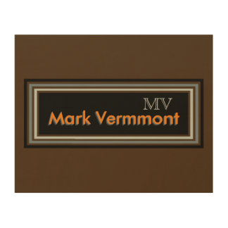 monogram brand / personalized wood canvases