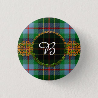 Monogram Brodie Hunting Tartan 3 Cm Round Badge