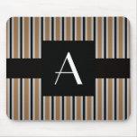 Monogram Brown and black stripes
