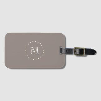 Monogram Brown Elegant Classic Luggage Tag