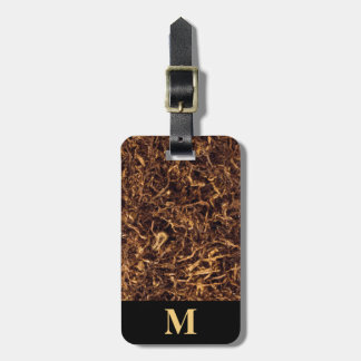Monogram Brown Shredded Tobacco Luggage Tag