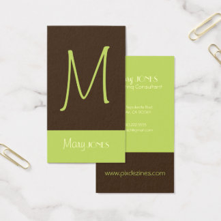 MONOGRAM BUSINESS CARDS en retro colors