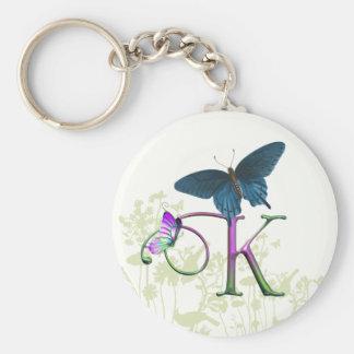 Monogram Butterfly Fantasy K Key Ring