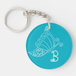 Monogram Butterfly Key Chain