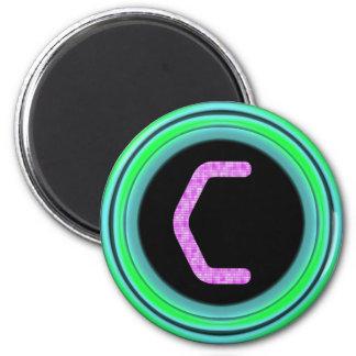 """Monogram """"C"""" 6 Cm Round Magnet"""