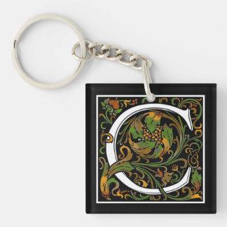 Monogram C Acrylic Key Chain