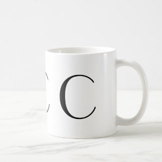 Monogram C Black Art Deco Mug