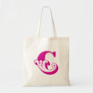 """Monogram """"C"""" Tote Bag"""