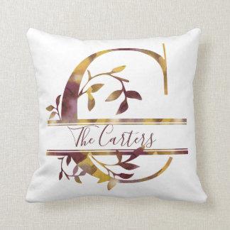 Monogram C - Watercolor - Personalised Cushion