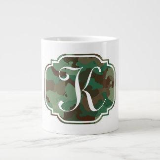 Monogram Camo Large Coffee Mug