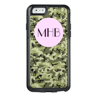 Monogram - Camouflage Pattern - Green White Black OtterBox iPhone 6/6s Case