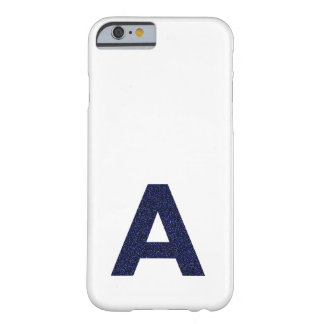 Monogram Capital A with Faux Glitter iPhone 6 Case