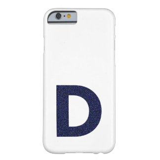 Monogram Capital D with Faux Glitter Barely There iPhone 6 Case