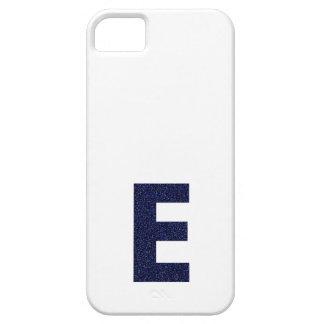 Monogram Capital E with Faux Glitter iPhone 5 Case