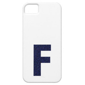 Monogram Capital F with Faux Glitter iPhone 5 Covers