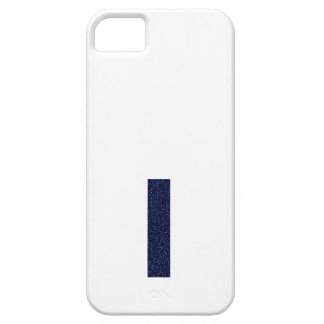Monogram Capital I with Faux Glitter iPhone 5 Cases