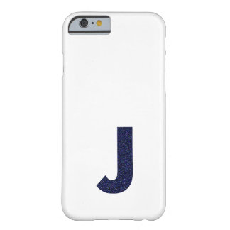 Monogram Capital J with Faux Glitter iPhone 6 Case