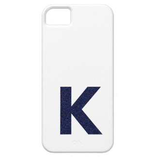 Monogram Capital K with Faux Glitter iPhone 5 Case