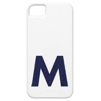 Monogram Capital M with Faux Glitter Case For iPhone 5/5S