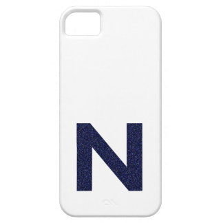 Monogram Capital N with Faux Glitter Barely There iPhone 5 Case