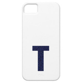 Monogram Capital T with Faux Glitter iPhone 5 Cases