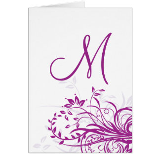 Monogram Cards- Purple Swirl Card