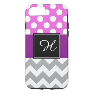 Monogram Cell Phone Case Purple