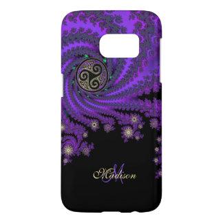 Monogram Celtic Fractal Triskele Galaxy S7 Case