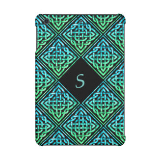 Monogram Celtic Knot Blue Green iPad Mini 2 Case