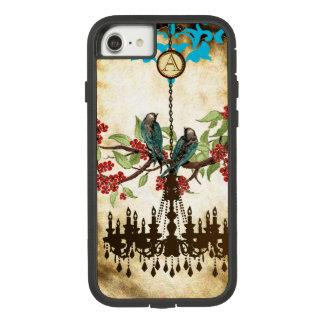 Monogram Cherry Blossom  Bird Chandelier iPhone Case-Mate Tough Extreme iPhone 8/7 Case