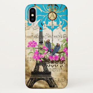 Monogram Cherry Blossom  Bird Chandelier iPhone iPhone X Case