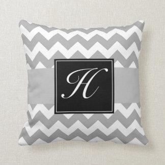 Monogram Chevron Pillow