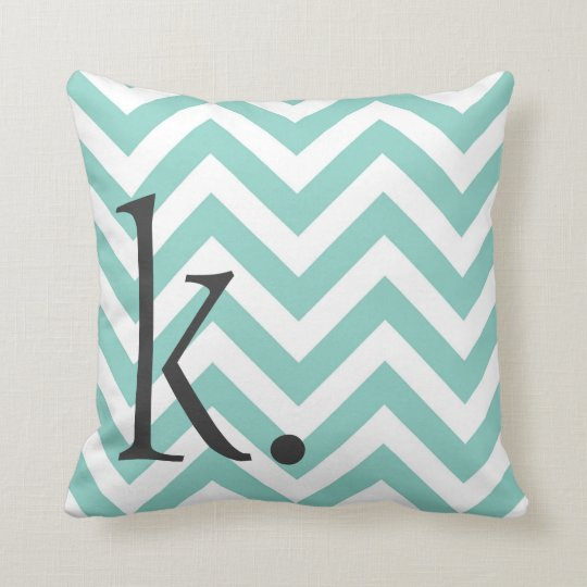 Monogram Chevron Pillow