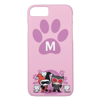 Monogram Chibi Harley Quinn & Catwoman With Cats iPhone 7 Case
